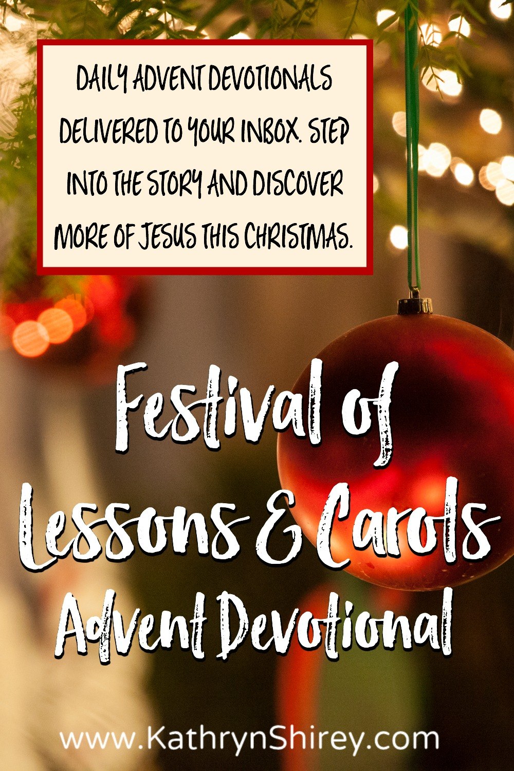 Step into the story and discover more of Jesus this Christmas. Daily Advent devotionals delivered to your inbox, based on the Festival of Lessons & Carols.